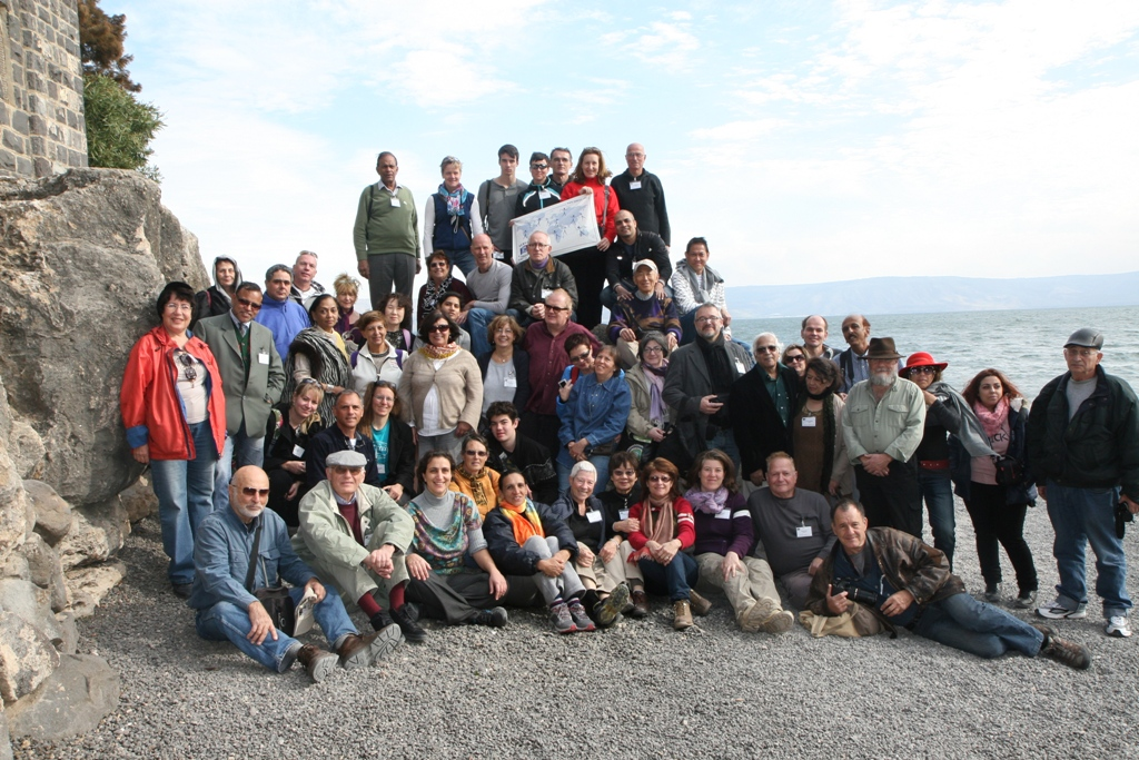 Group photo at Sea of Galilee