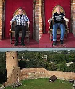 Dor and Mirek as the kings of Czersk castle near Warsaw